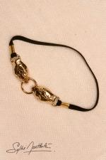 Bracelet de sexe Serpents - or - Deux serpents d'Or mordent un anneau sur votre p�nis.