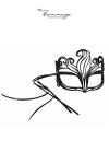 Masque Shine - Faire Hommage - Des cristaux Svarowki ornent ce masque ultra féminin aux volutes délicatement sensuelles.