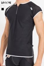 T-Shirt Mixing - Tee shirt pour homme en r�sille large et lycra, � combiner avec la gamme de lingerie Mixing pour un style parfait.
